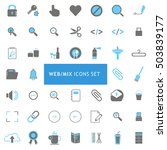 web mix blue and gray icon set   Shutterstock .eps vector #503839177