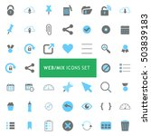 web mix blue and gray icon set