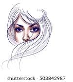 stylish  original hand drawn ... | Shutterstock . vector #503842987