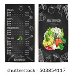 vegetarian healthy food menu... | Shutterstock .eps vector #503854117