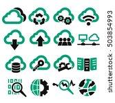 cloud computing icon set   Shutterstock .eps vector #503854993