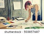design studio architect... | Shutterstock . vector #503857687