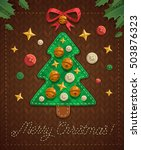 merry christmas greeting card... | Shutterstock .eps vector #503876323