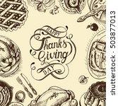 vector illustration sketch card ... | Shutterstock .eps vector #503877013
