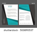 vector business flyer  magazine ... | Shutterstock .eps vector #503890537