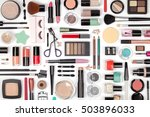 makeup cosmetics  brushes and... | Shutterstock . vector #503896033