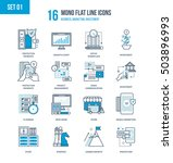 color flat line icons set of... | Shutterstock .eps vector #503896993
