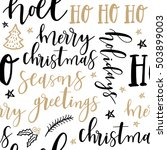merry christmas hand drawn... | Shutterstock .eps vector #503899003