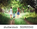 beautiful happy family resting... | Shutterstock . vector #503905543