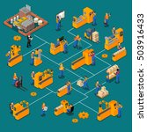 factory workers isometric... | Shutterstock .eps vector #503916433