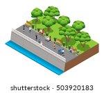 isometric landscaping... | Shutterstock .eps vector #503920183