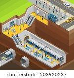 underground isometric design... | Shutterstock .eps vector #503920237