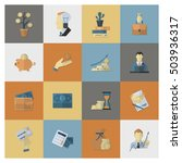 business and finance  flat icon ... | Shutterstock .eps vector #503936317