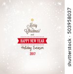 christmas background with... | Shutterstock .eps vector #503958037