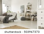 spacious home interior in white ... | Shutterstock . vector #503967373