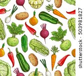vegetarian seamless pattern... | Shutterstock .eps vector #503981827