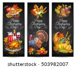 thanksgiving day greeting... | Shutterstock .eps vector #503982007
