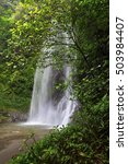 Small photo of waterfal curug Sawer,,locations Majalengka west java