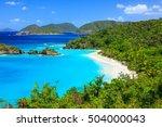 caribbean trunk bay on st john... | Shutterstock . vector #504000043