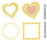 Set Frames Of  Heart With...