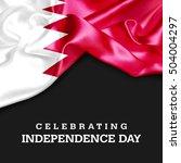 celebrating bahrain... | Shutterstock . vector #504004297