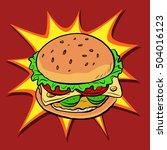 burger fast food retro pop art