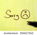 sorry note | Shutterstock . vector #504017563