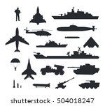 military armament and troops... | Shutterstock .eps vector #504018247