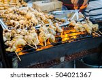 evening street food in bangkok  ... | Shutterstock . vector #504021367