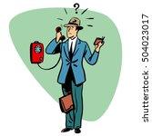 talking phone communication... | Shutterstock . vector #504023017
