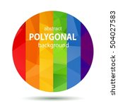 polygoral round rainbow gay... | Shutterstock .eps vector #504027583