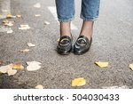 fall outfit fashion details.... | Shutterstock . vector #504030433