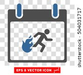 vector fire evacuation man...   Shutterstock .eps vector #504031717