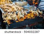 evening street food in bangkok  ... | Shutterstock . vector #504032287