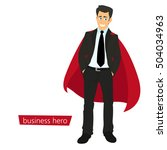 superman business. a man in a... | Shutterstock .eps vector #504034963