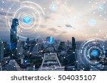 blue high tech tone of... | Shutterstock . vector #504035107