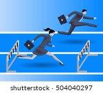 gender inequality on career... | Shutterstock .eps vector #504040297