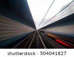 speed motion in urban highway... | Shutterstock . vector #504041827