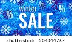 vector winter sale banner. text ... | Shutterstock .eps vector #504044767