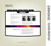 website design template. vector. | Shutterstock .eps vector #50404885