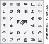 business icons universal set... | Shutterstock . vector #504050527