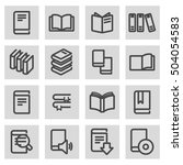 vector black line book icons... | Shutterstock .eps vector #504054583