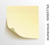 yellow sticky note isolated on... | Shutterstock .eps vector #504057763