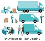 delivery concept  freight ... | Shutterstock . vector #504058843
