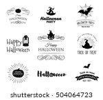 halloween party invitation... | Shutterstock .eps vector #504064723