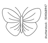 Butterfly With Strip Icon....