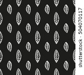 seamless pattern with brush... | Shutterstock .eps vector #504070117