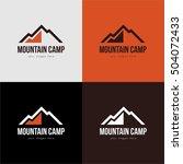mountain camp orange red black... | Shutterstock .eps vector #504072433