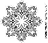 vector henna tatoo mandala.... | Shutterstock .eps vector #504072847