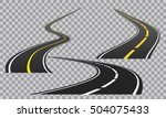 winding curved road or highway... | Shutterstock .eps vector #504075433